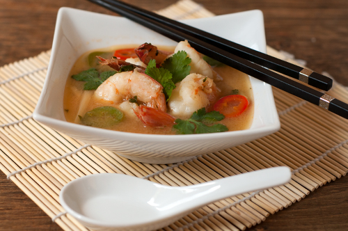 shrimp soup hot and sour soup