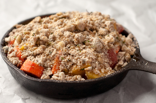 vegetable crumble before baking