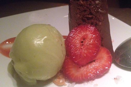 root down denver chocolate cake with avocado ice cream