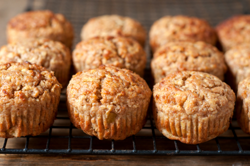 apple muffins with oats and bran