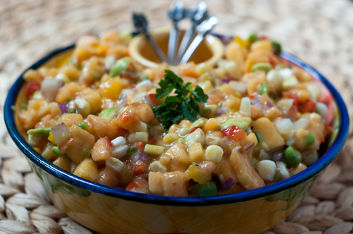 gingered peach and avocado salsa 1