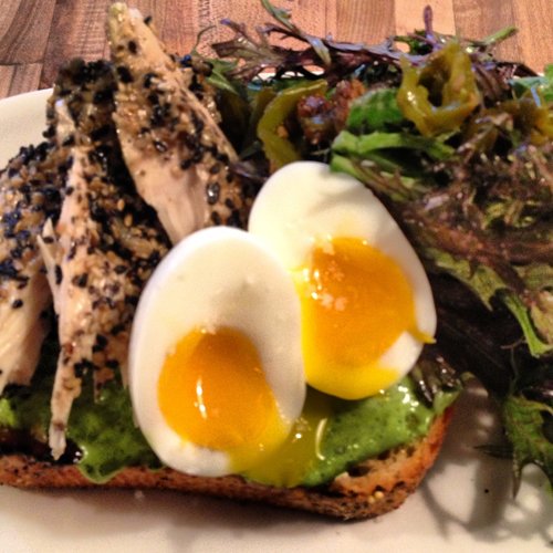 revel seattle eggs and tuna on toast