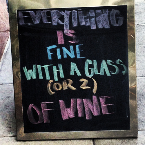 seattle rn 74 wine bar sign