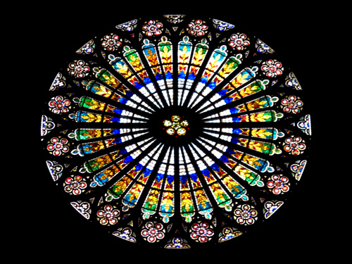 7 strasbourg france cathedral rose window
