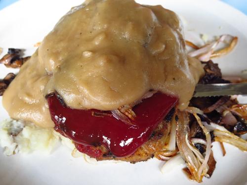 steubens meatloaf with mushroom gravy