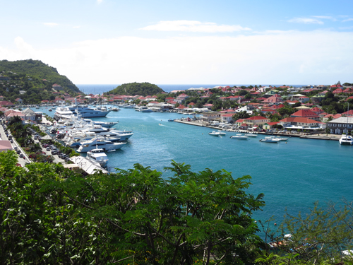 5 st barths marina from hill