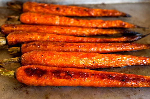 carrots roasted whole