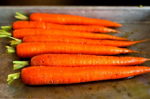 carrots roasting unroasted