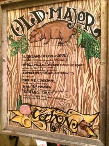 cochon old major menu