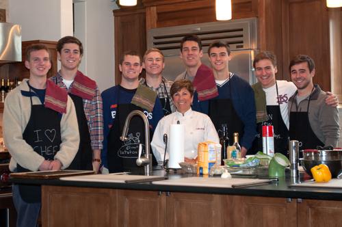 senior boys cooking class