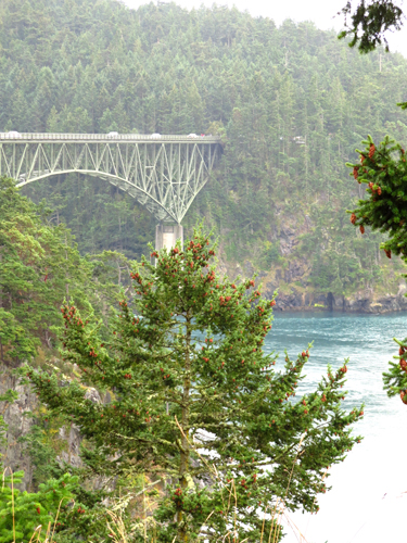 WA whidbey island deception pass bridge