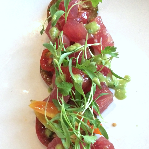 acorn denver ahi tuna on heirloom tomatoes-1