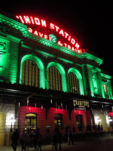 union station denver christmas lights