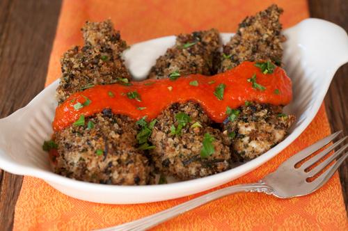 herbed chicken tenders with orange pepper sauce-1