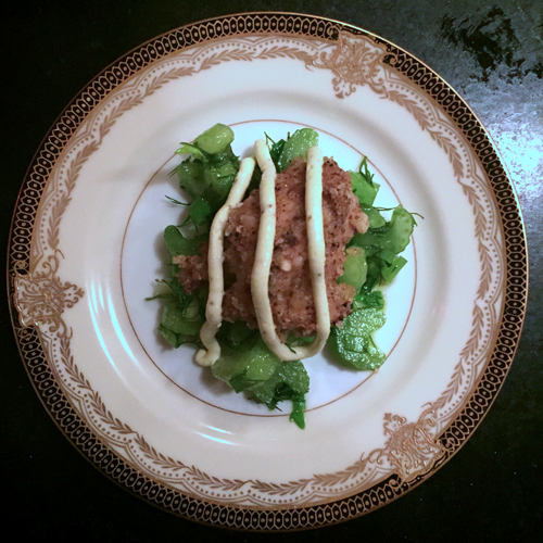 new years eve 2015 fried oyster celery salad-1