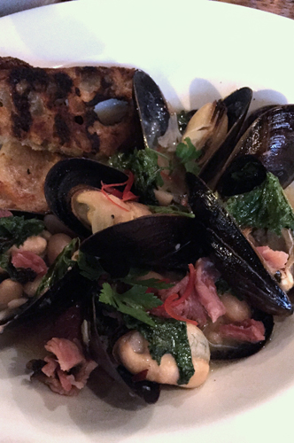 old major denver mussels smoke pork shank mustard greens-1