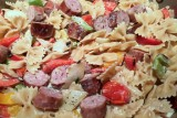 pgf smoked sausage with pasta and peppers