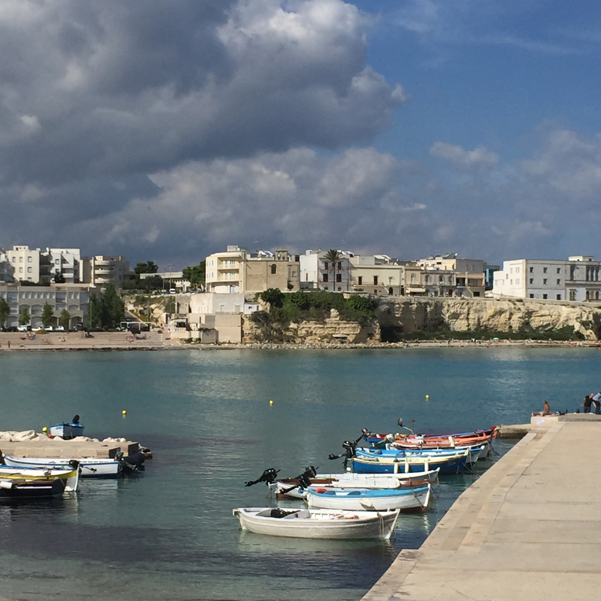 The Seaside Town of Otranto in the Salento