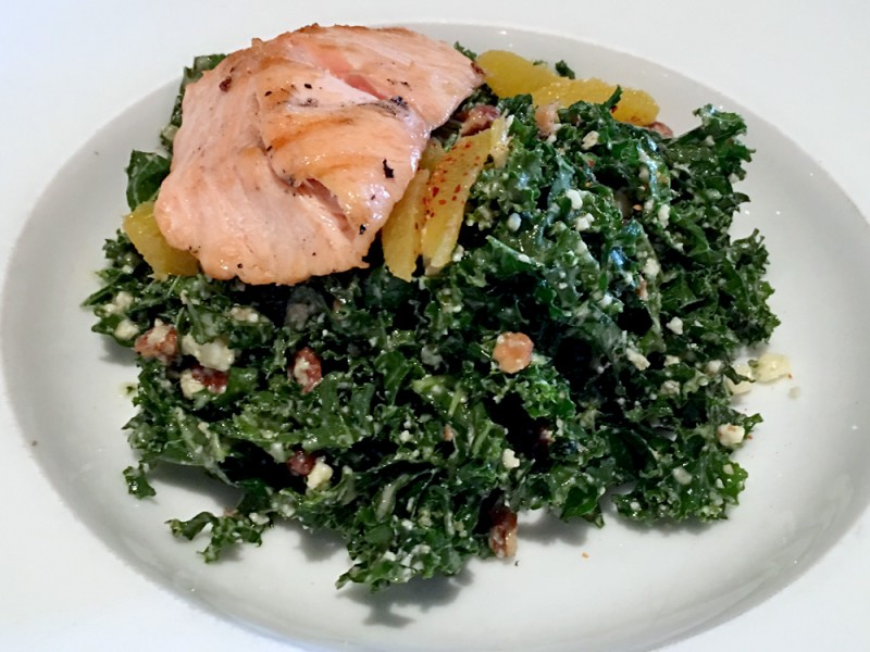 denver-humboldt-farm-fish-wine-salmon-kale-salad