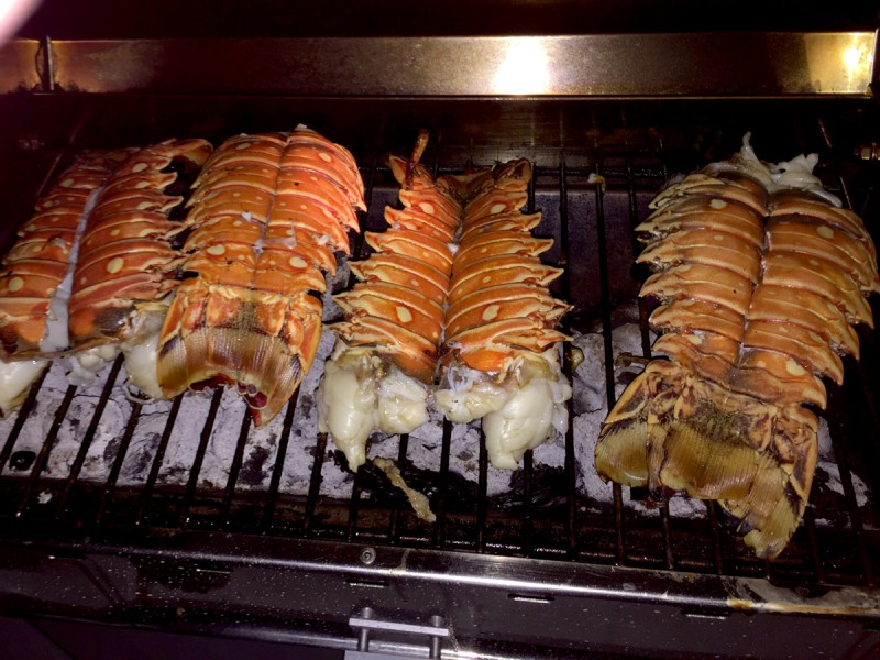 caribbean-bvi-anegada-lobster-tails-on-grill