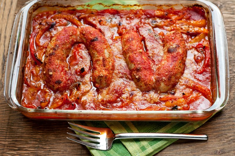 italian-chicken-sausage-with-peppers-and-onions