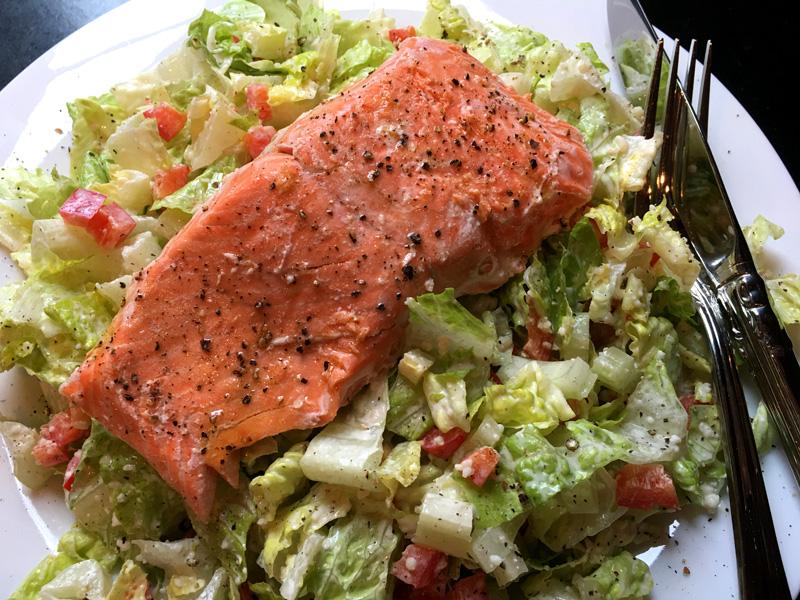Semi Sous Vide Salmon
