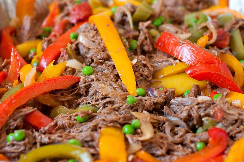 Ropa Vieja (Cuban Shredded Beef with Peppers and Onions)