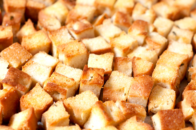 Roasted Garlic Croutons