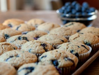 sourdough-blueberry-muffins