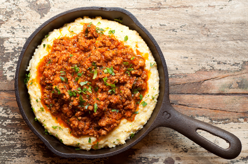 NR-Creamy-Polenta-with-Mascarpone-and-Spicy-Ragu-Sauce-4