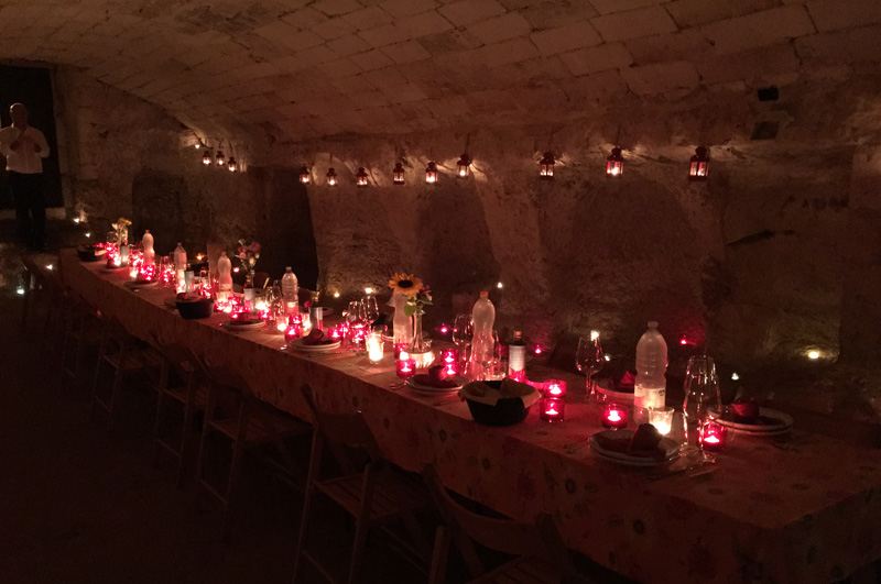 salento-puglia-italy-castle-olive-cellar-dining-table
