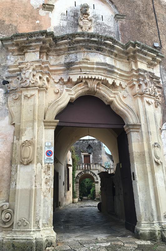 salento-puglia-italy-palazzo-bacile-castle-entrance