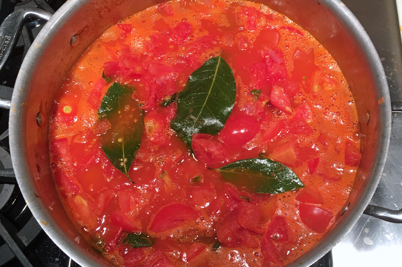 Making Tomato Sauce to Can