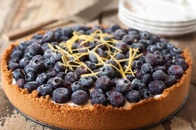 Light Lemon-Blueberry Freezer Cheesecake