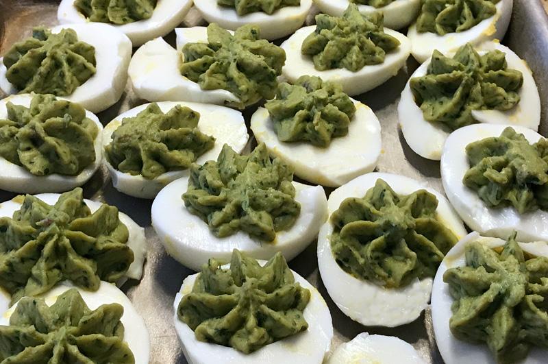 Jalapeno-Avocado Deviled Eggs