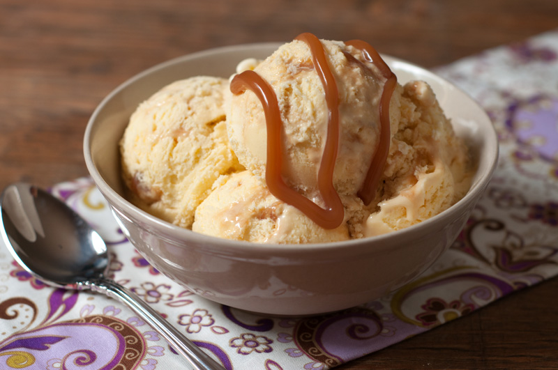 Buttermilk Ice Cream with Salted Caramel
