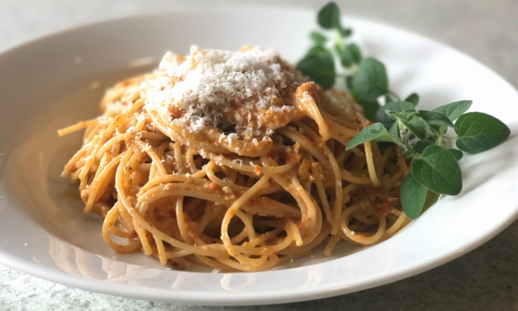 Spaghetti with Romesco Sauce