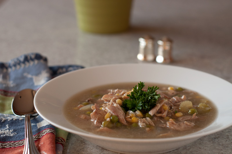 Turkey (or Chicken) and Vegetable Soup