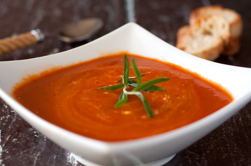 Creamy Tomato Soup with Rosemary