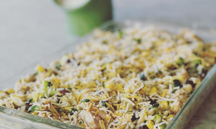 Southwestern Chicken and Rice Casserole