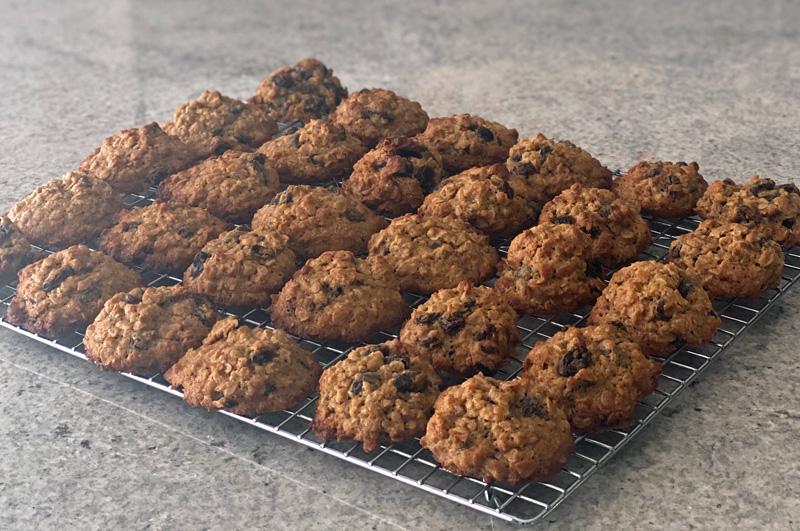 Classic Oatmeal Raisin Cookies