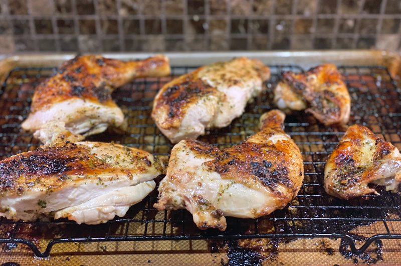Soy-Garlic Broiled Chicken