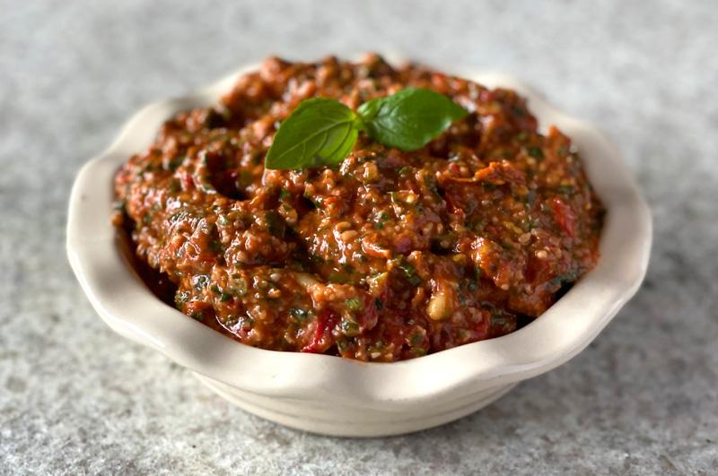 Oven Dried Tomato and Basil Pesto