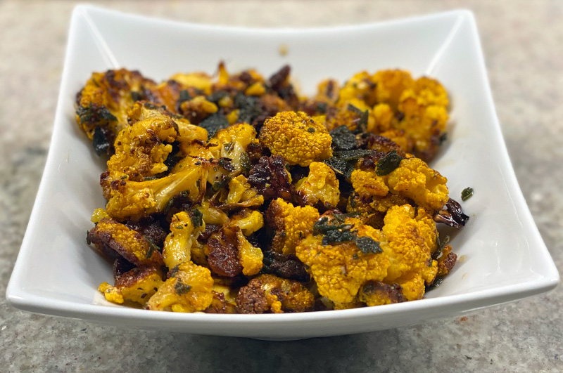 Roasted Cauliflower with Sage Brown Butter