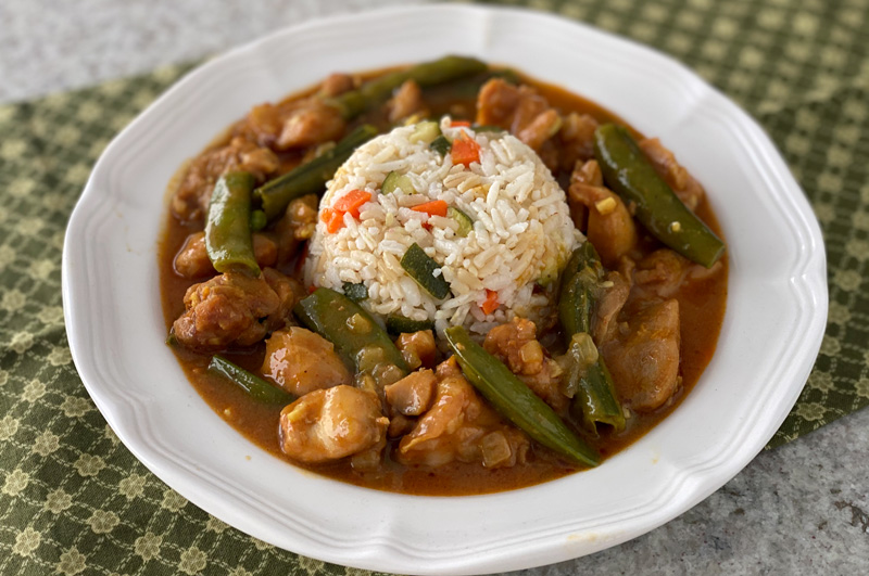 Coconut Curry with Chicken and Snap Peas