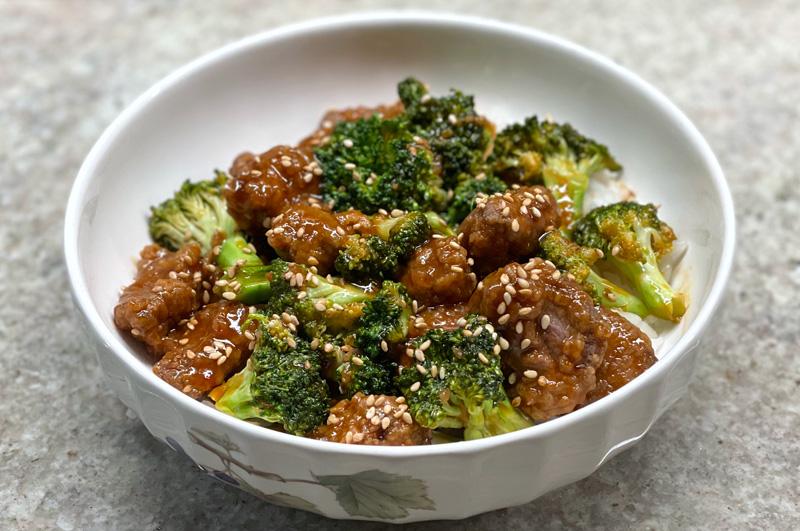 Crispy Sesame Beef with Broccoli